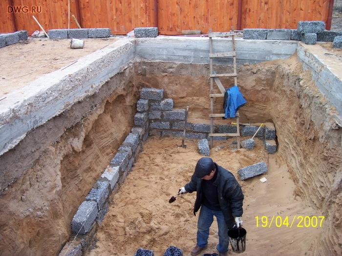 Фундамент под арболитовый дом своими руками 48