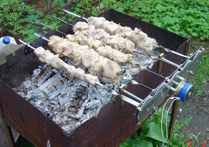 Электропривод шампуров своими руками