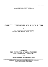 Stability coefficients for earth slopes